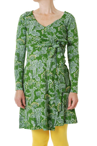 Duns Sweden ADULT Longsleeve Wrap Dress Dill Cactus Green