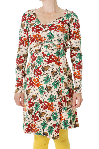 Duns Sweden ADULT Longsleeve Wrap Dress Rowanberry Pearl