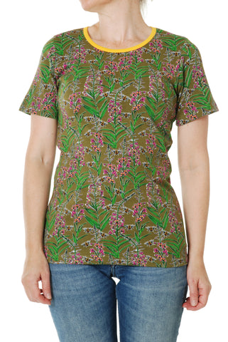 Duns Sweden ADULT T-Shirt Willowherb Olive - Wilgenroosjes