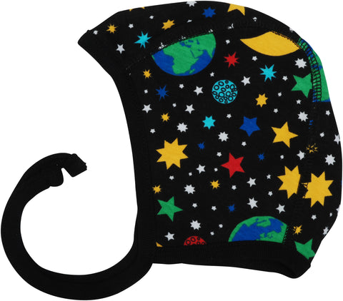 Duns Sweden Babycap Bonnet Mother Earth Black - Heelal Zwart