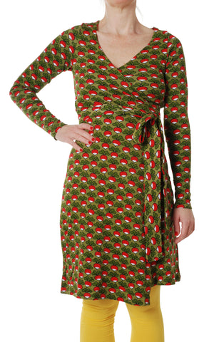 Duns Sweden ADULT Longsleeve Wrap Dress Radish Sage