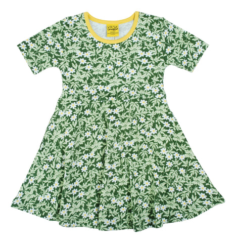 Duns Sweden - Skaterdress Shortsleeve Wood Anemone Green