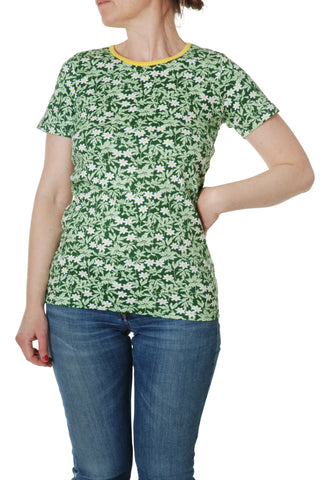Duns Sweden ADULT T-Shirt Wood Anemone Green - Bosanemoon Groen