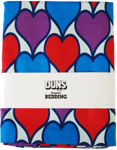 Duns Sweden Bedding BABY/JUNIOR Hearts Purple Blue Red
