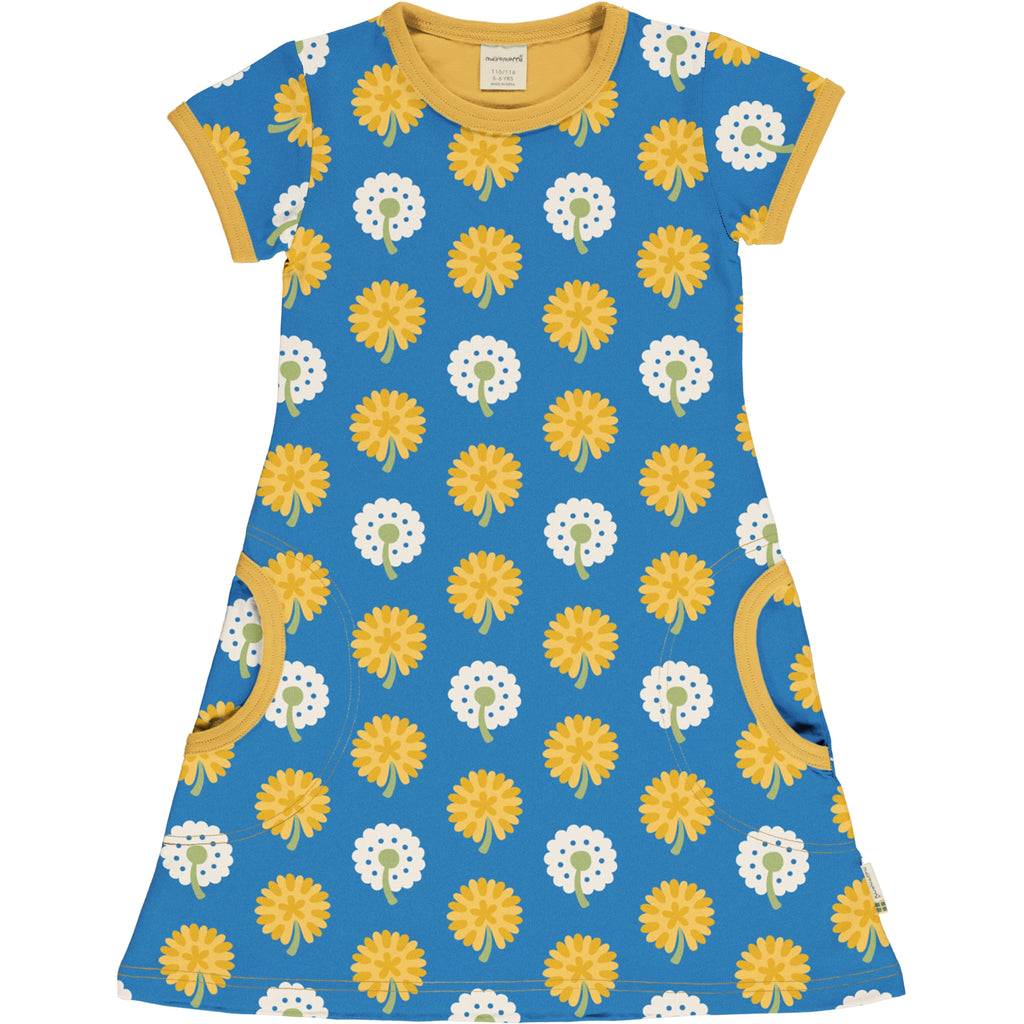 Maxomorra - Dress Short Sleeve Dandelion - Jurk Korte Mouw Paardenbloemen