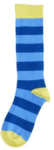 Duns Sweden Knee Socks Blue /Dark Blue Striped
