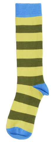 Duns Sweden Knee Socks Lt Green /Swamp Green Striped