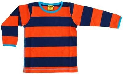 Duns Sweden Longsleeve Striped Orange Navy