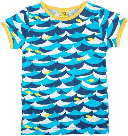 Duns Sweden T-Shirt Jumping Fish Blue