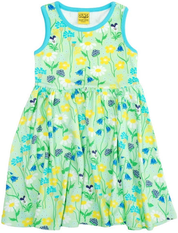 Duns Sweden Dress Zwierjurk Midsummer Flowers Green