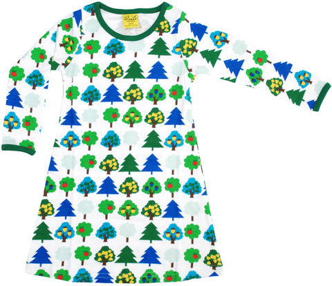 Duns Sweden Dress Longsleeve White Trees Bomen