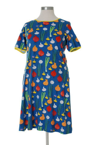 Duns Sweden ADULTS - Shortsleeve Dress Garlic, Chives & Unions - Look & uien Blue