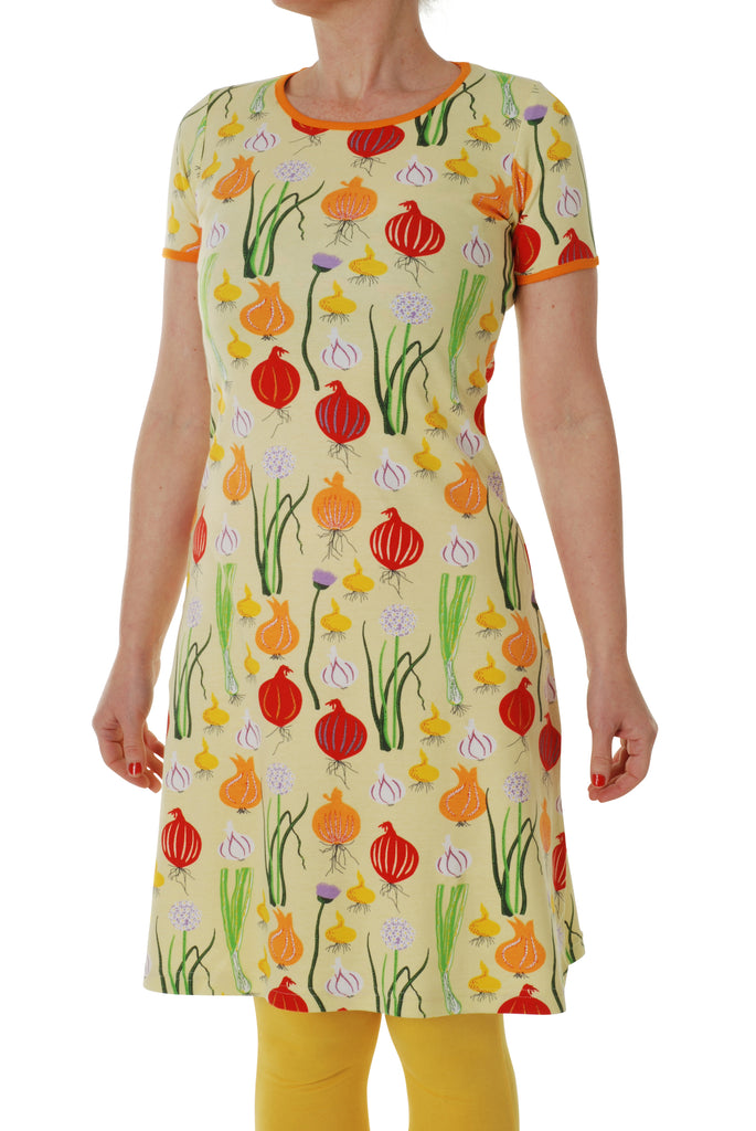 Duns Sweden ADULTS - Shortsleeve Dress Garlic, Chives & Unions - Look & uien Pale Green