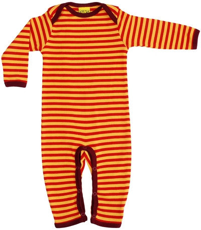 Duns Sweden Jumpsuit Yellow Red Gestreept Rood Geel