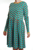 Duns Sweden - LADIES Twirl Dress/Zwierjurk Radish Turquoise DAMES