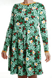 Duns Sweden - LADIES Twirl Dress/Zwierjurk Rosehip Green DAMES