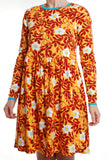 Duns Sweden - LADIES Twirl Dress/Zwierjurk Rosehip Mustard DAMES