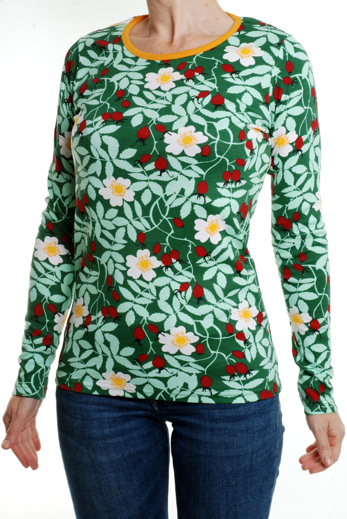 Duns Sweden - LADIES Longsleeve Rosehip Green DAMES