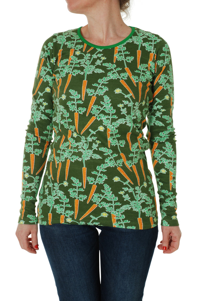 Duns Sweden ADULTS - Longsleeve Top Carrots - Worteltjes Wortels