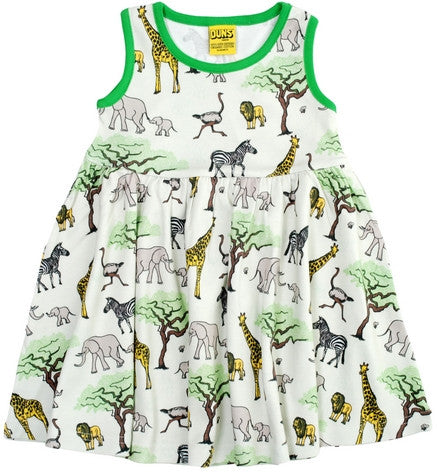 Duns Sweden Dress Sleeveless Africa - Zwierjurk Afrika Olifant