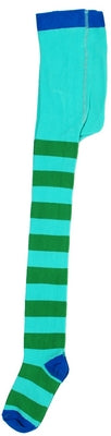 Duns Sweden Tights Mint/Green Blue Toe - Mintgroen/Groen gestreepte Maillot