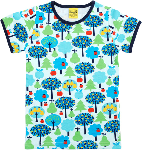 Duns Sweden T-Shirt Blue Apple Tree - Shirt met Appelbomen