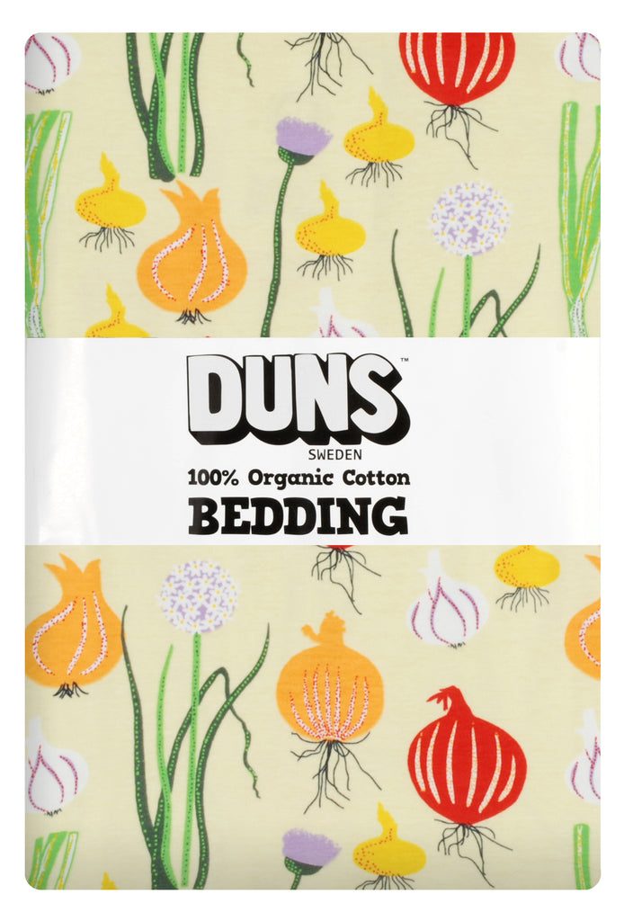 Duns Sweden - Bedding Adult Garlic, Chives & Onion Pale Green - Dekbedovertrek 1 persoons Uien Lichtblauw