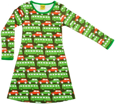 Duns Sweden Dress Longsleeve Green Busses
