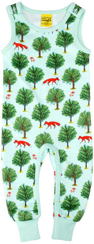 Duns Sweden - Dungarees Fox and Tree Jade