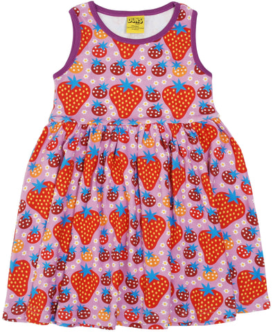 Duns Sweden - Gather Dress Strawberry Field Light Purple
