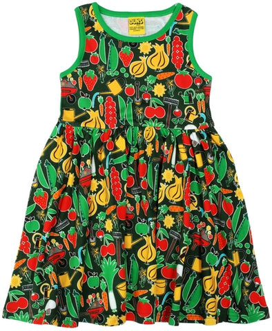 Duns Sweden - Sleeveless Dress Park Life Green - Zwierjurk Groente Groen