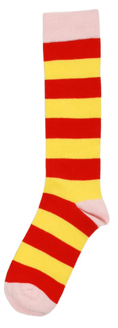 Duns Sweden Knee Socks Tomato Red/Yellow Striped