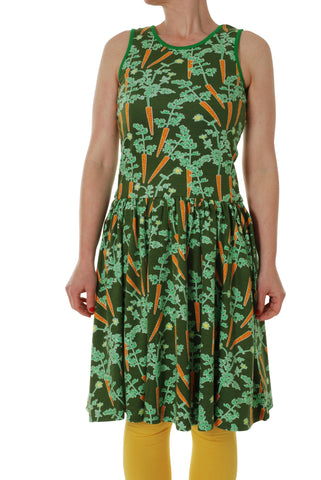 Duns Sweden ADULTS - Sleeveless Dress Carrots - Worteltjes