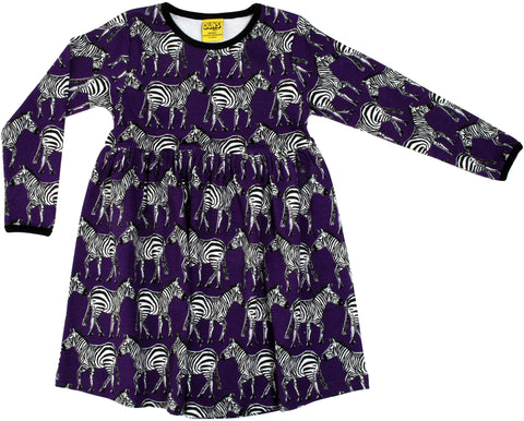 Duns Sweden - Twirl Dress/Zwierjurk Zebra's Purple