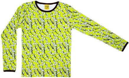 Duns Sweden - Longsleeve Willow Lime - Shirt Lange Mouw Wilgenkatjes Lime
