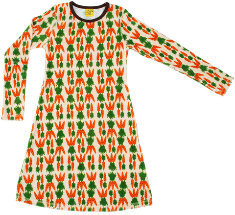 Duns Sweden - Longsleeve Dress Carrots Organic Velours
