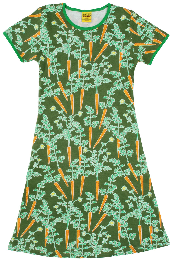 Duns Sweden - Shortsleeve Dress Carrots - Jurk Worteltjes Wortels