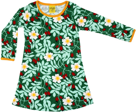 Duns Sweden - Longsleeve Dress Rosehip Green