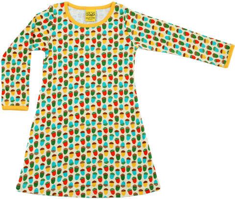 Duns Sweden - Longsleeve Dress Small Acorns