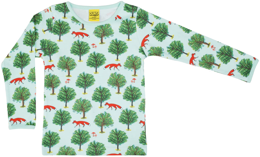 Duns Sweden - Longsleeve LADIES Top Fox and Tree Jade