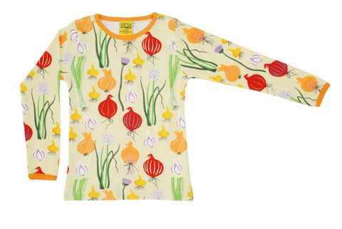 Duns Sweden - Longsleeve Top Garlic, Chives & Onion Pale Green - Knoflook, Look & Uien Lichtgroen