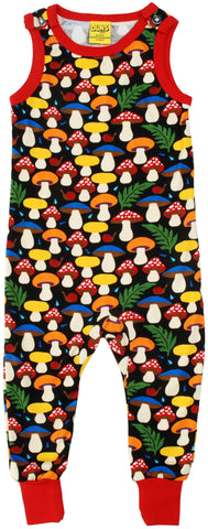 Duns Sweden - Playsuit Mushrooms Black - Paddestoelen Zwart