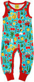 Duns Sweden - Playsuit Park Life Red - Groente Turquoise
