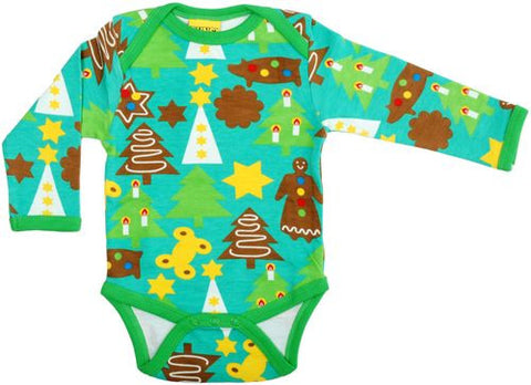 Duns Sweden Body Christmas Green - Romper Kerst