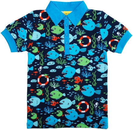 Duns Sweden T-Shirt Collar Under the Sea - Poloshirt Zee