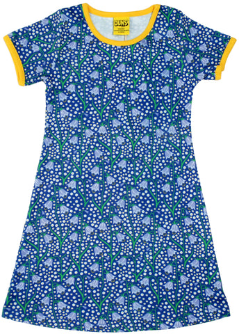 Duns Sweden - Shortsleeve Dress BlueBell Blue - Jurk Korte Mouw BlueBell Blauw