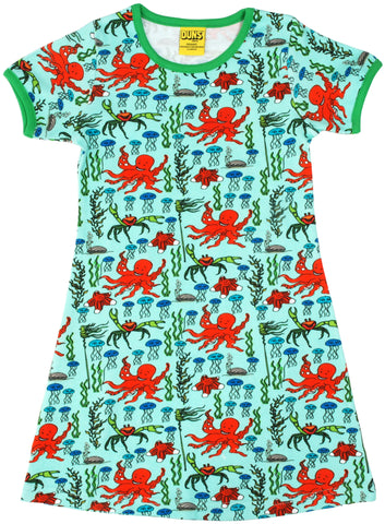 Duns Sweden - Short Sleeve Dress Octopus Mint