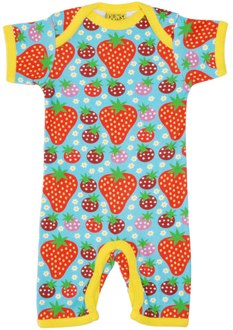 Duns Sweden - Summersuit Strawberry Field Light Turquoise