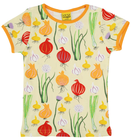 Duns Sweden - T-shirt Garlic, Chives and Onion Pale Green Shirt Knoflook, Bieslook & Ui Zacht Groen