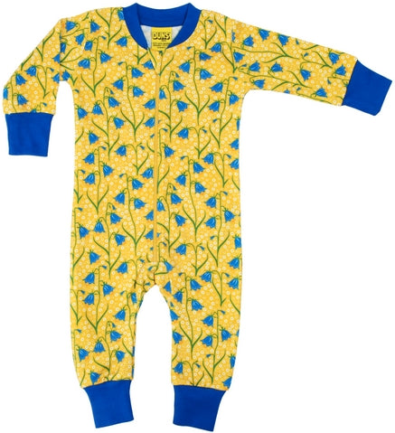 Duns Sweden - Zipsuit BlueBell Yellow - Klokjes Geel
